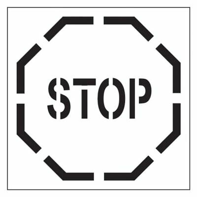 "Dy-Mark ""STOP SIGN"" SAFETY STENCIL 445x445mm Hardwearing *Australian Brand"