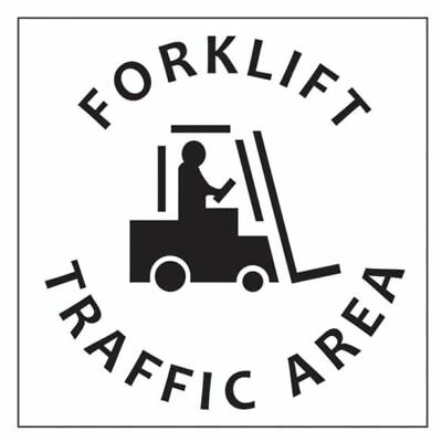 "Dy-Mark ""FORKLIFT TRAFFIC AREA"" SAFETY STENCIL 445x445mm *Australian Brand"