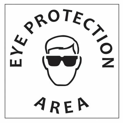 "Dy-Mark ""EYE PROTECTION AREA"" SAFETY STENCIL 445x445mm Hardwearing *Aust Brand"