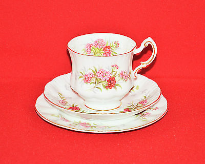 Paragon Fine Bone China English Flowers Sweet Williams Vintage Trio Sett Teacup