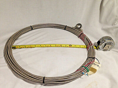 RTD Temperature sensor washer tip and 20m SS armored cable. 3 Wire TCA TCFIXEX