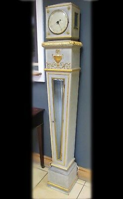Continental Painted Neoclassical Style Regulator Grandfather Longcase Clock