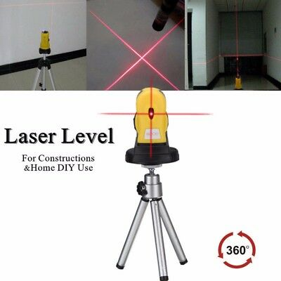 0-360° Rotary Laser Level Self-Levelling Cross Line Measuring + Tripod Stand