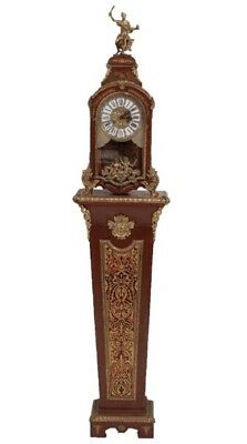 Louis XV Style 8 Day Boulle Work Bracket Clock on Pedestal