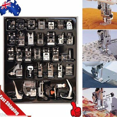 32Pcs/Set Presser Foot Feet For Brother Singer Domestic Sewing Machine Part A^U%