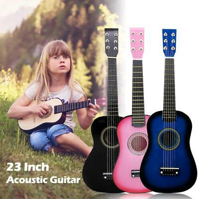 23 Inch Black Basswood Acoustic Guitar With Guitar Pick Wire Strings Ukulele