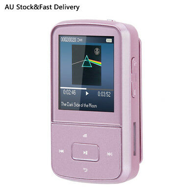 AGPTEK 8GB Portable Clip Bluetooth Mp3 Player with FM Radio for Sport G05S Pink