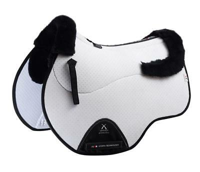 PEI Air-Teque Shockproof Wool European Saddle Pad - GP - White with Black Wool