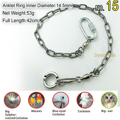1pcs Birds Anklet Stainless Steel Cyclic Foot Anklet Foot Chain for Cockatiel