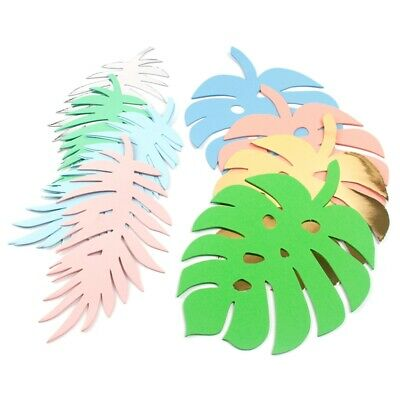 6X Paper Turtle Leaf Palm Leave Backdrop Decor Birthday DIY Luau Party Supplies