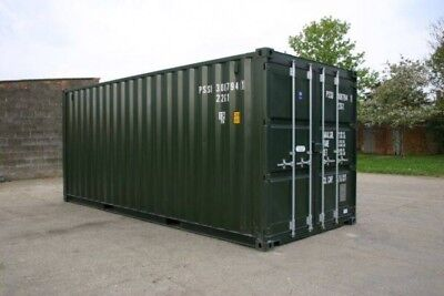 20ft NEW Shipping Container, Green or Blue- £1999 plus VAT- £2398 including VAT
