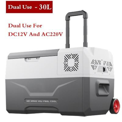 -20 Degrees Freeze Fridge 30L 12V/24V/220V Portable Compressor Car Refrigerator