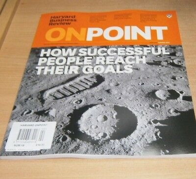 Harvard Business Review OnPoint magazine SUMMER 2018 How People Reach Goals