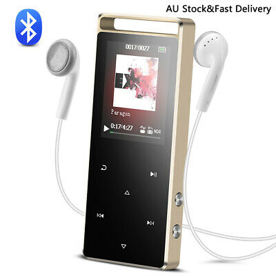 AGPTEK 8GB Bluetooth MP3 Player Touch Button with FM/ Voice Rocord Support 128GB