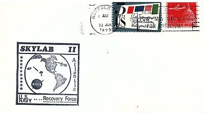 UNITED STATES - 1973 Skylab II US Navy Recovery Force Cover cancelled Norfolk VA