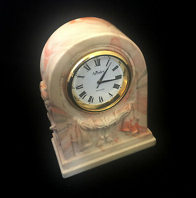 AYNSLEY PORTLANDWARE MARBLE Vintage Antique Rustic Collectable Mini Clock