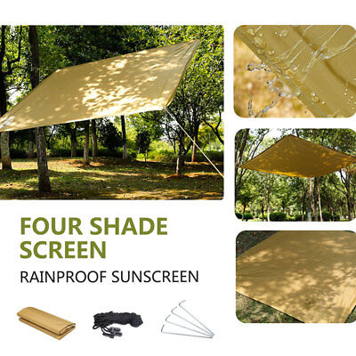 Triangle Rectangle Sun Shade Sail Outdoor Yard Garden Patio Top Cover Waterproof