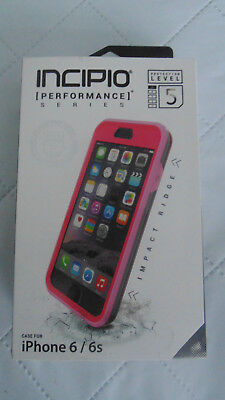 Incipio Performance Protection Level 5  Iphone 6 6s Pink Case  With Holster Clip