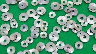 Assorted pack of washers/collets with round holes (antique clock repair)