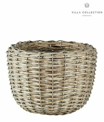 Villa Collection Denmark Waterproof Willow Wicker Planter Flower Plant Pot