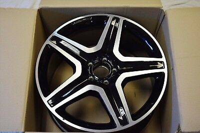 "Genuine Amg Mercedes Ml M Gle Class W166 20"" 9J Alloy Wheel A1664012002 7X23 #6"