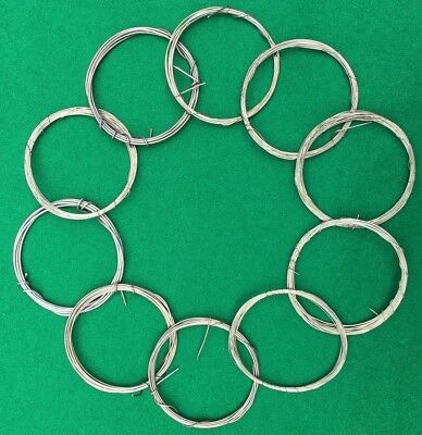 Brass Wire assorted pack of 10 antique clock wire tension spool, Great quality!