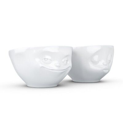 TASSEN - Set Of 2 Bowls One Kissing & One Grinning By Fiftyeight