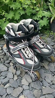Women's man's unisex roller blades size uk 7.5 FILA used 80mm wheels