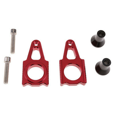 Pair CNC Stainless Steel Rear Axle Block Chain Adjuster for HONDA CR125/250