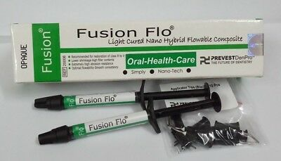 Dental Flowable Composite Light Cured Nano Hybrid Intro Pack Shade-Opaque Fusion