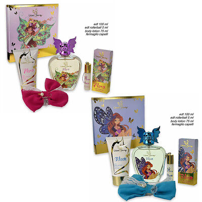 SET DA 4pz WINX FAIRY COUTURE CHIC ESSENCE PROFUMO 100ML+ROLLERBALL+BODY LOTION