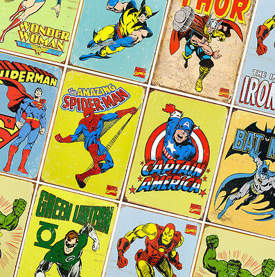 MARVEL DC COMICS SUPER HERO POSTERS  - Prints A4 - A3 - A2 - Avengers, Iron Man