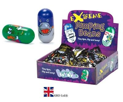 2 x EXTREME JUMPING MAGIC BEANS Party Bag Stocking Filler Kids Toy Gift Pack UK