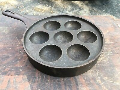 griswold cast iron pan 962 Egg Muffin Cake Cooking Vtg Antique Camping
