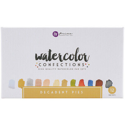 Prima Marketing Prima Watercolor Confections Watercolor Pans 12/Pkg-Decadent Pie