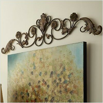 Charmant Entryway Wrought Iron Wall Art Decor Door Topper Rustic Tuscan Metal  Sculpture