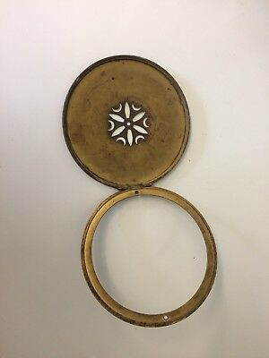 Vintage Clock Brass Back Plate And Bessel