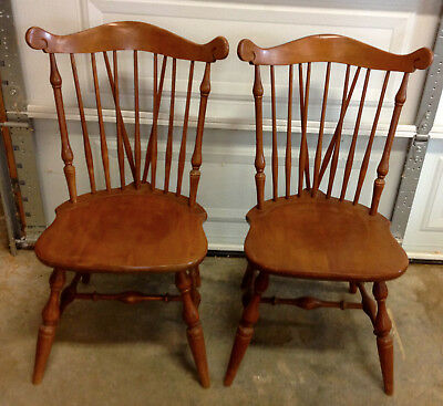 Temple Stuart Pair Of Windsor Side Chairs Rockport Maple