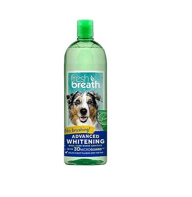 Fresh Breath for Dogs 33.8 oz Oral Water Additive Advanced Whitening Dental Care