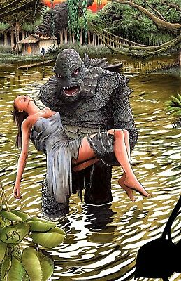 Creature from the Black Lagoon 11x17 Signed Horror Art Print, by Shawn Langley