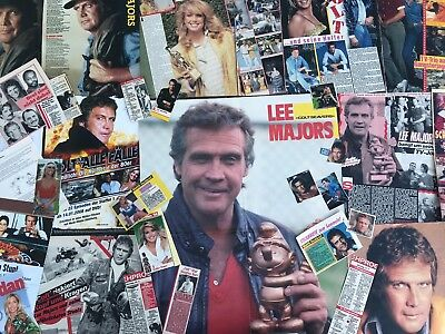 Lee Majors 50+ Clippings LOT POSTER The Fall Guy EIN COLT FÜR ALLE FÄLLE 1982