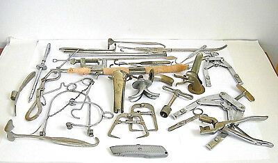 Big Lot: Antique veterinary or MD surgical, obstetric & orthopaedic instruments