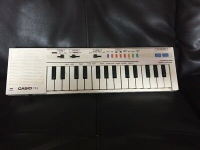 Vintage Casio PT-1 Compact Electronic Keyboard Synthesizer White
