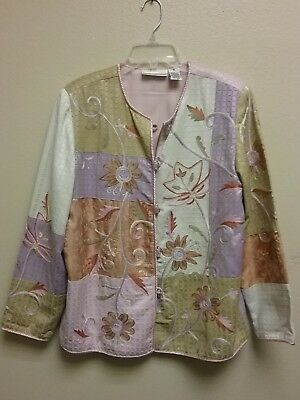 Draper's and Damond's Jacket Size Small Flowers