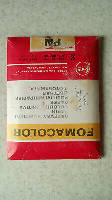 Vintage Color Glossy Photo Paper Fomacolor 25 sheets 13x18cm Expired 1992