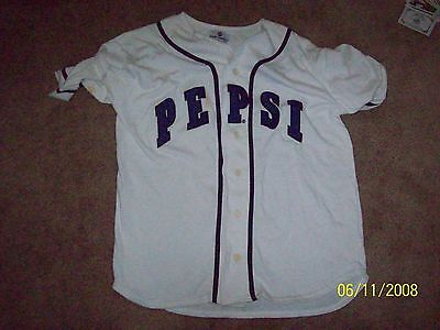 PEPSI Next Generation BASEBALL JERSEY w/ Tag (Size s/m) ~ EMBROIDERED UNUSED