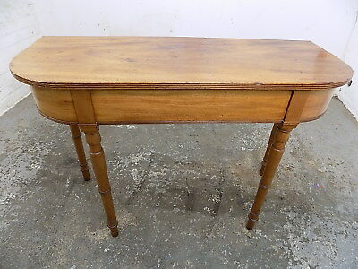 antique,console,small,victorian,mahogany,hall table,4 legs,table,turned legs,