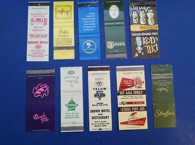 VINTAGE LOT OF  MATCHCOVERS, Cleveland, Oberlin, Ohio