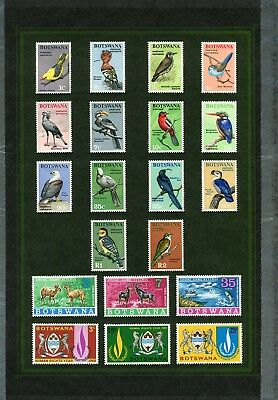Weeda Botswana 19/57 VF LH 1967-1969 issues on album pages CV $68.80