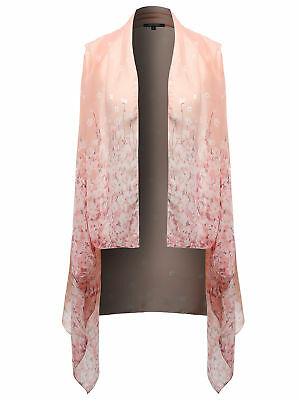 FashionOutfit Women's Top Sleeveless Various Design Print Shrug Kimono Cardigan